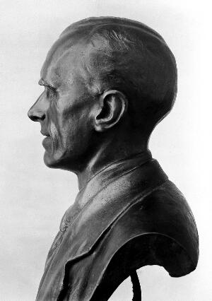 view Bust of E.rnst Henry Starling at University college, London, 1933.
