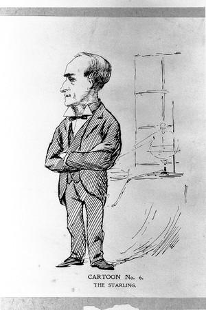 view Cartoonof Ernst Henry Starling.