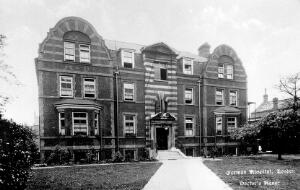 view The German Hospital, Dalston: residence of doctors and male staff. Photograph by Marshall, Keene & Co.
