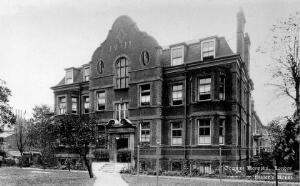 view The German Hospital, Dalston: residence of the nurses and female staff. Photograph by Marshall, Keene & Co.