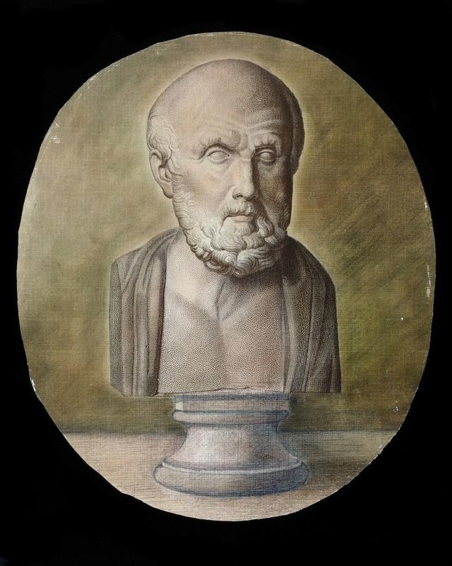 Hippocrates. Engraving (?).
