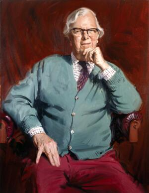 view Sir Roger Gibbs. Oil painting by Andrew Festing, 2000.