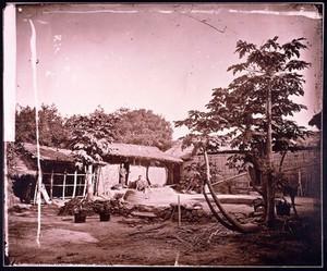 view Pepohoan dwellings; Pepohoan house Bak-su, Formosa