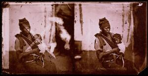 view A mother and child in morning dress, Baksa, Formosa