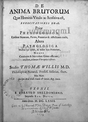 view Willis, De anima brutorum, 1672