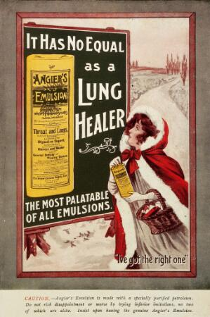 view Angier's Emulsion, Lung Healer: Lady in the snow