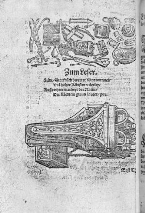 view Artzneybuch. 1546. Surgical Instruments