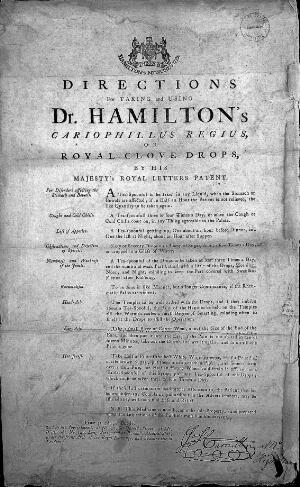 view HAMILTON: DIRECTIONS FOR TAKING AND USING