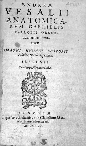 view A. Vesalius, Anatomicarum G. Fallopii observ