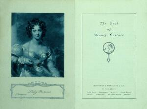 view The book of Beauty Culture, inside cover and