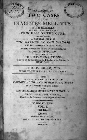 view John Rollo, An account of two cases of diabe