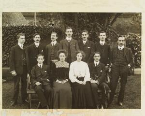 view Office staff, group photograph