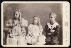view Ann, Francis and Stanley Burroughs, the three children of Olive and Silas Mainville Burroughs
