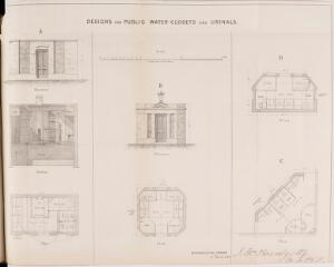 view Designs for Public Water-Closets and Urinals. Metroploitan Sewers 15th March 1849