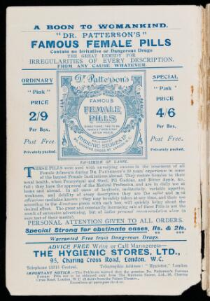 view Page of advertisments from 'The Popular Herbal..'
