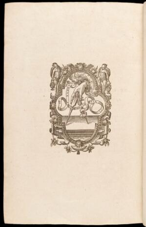 "view Printer's device on last page of Dodoens' ""Stirpivm historiae.."""
