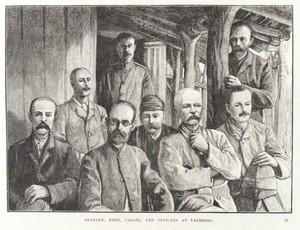 view H. M. Stanley, Emin Pasha and Captian Casati.