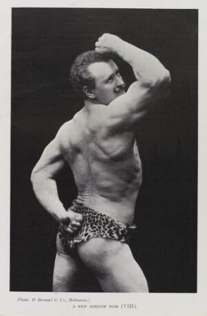 "view ""A New Sandow Pose (VIII)"", Eugen Sandow"
