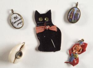 view A selection of good luck charms used by soldiers