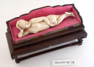 view Chinese ivory diagnostic doll used by female patients to indicate where their symptoms were.