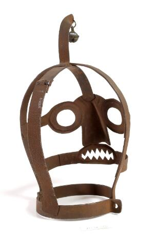 view An Iron 'scolds bridle' mask used to publicaly humiliate
