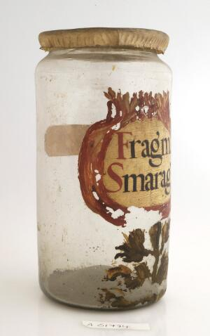 view Apothecary jar for emerald fragments