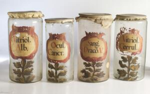 view Selection of apothecary jars
