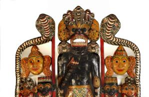 view Sinhalese mask used in exorcism