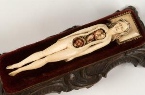 view Ivory anatomical figure of a pregnant woman