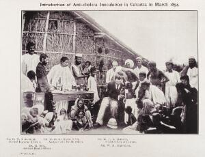 view Anti-cholera inoculation, Calcutta, 1894