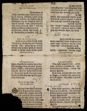 view Reverse page, An almanack ... for the year 1562