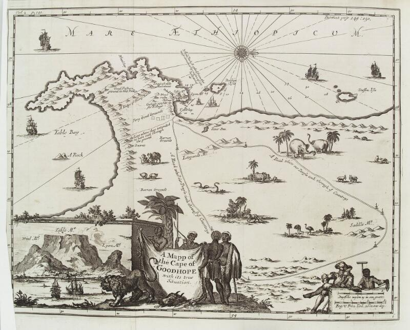 Map of the Cape of Good Hope, South Africa. | Wellcome Collection