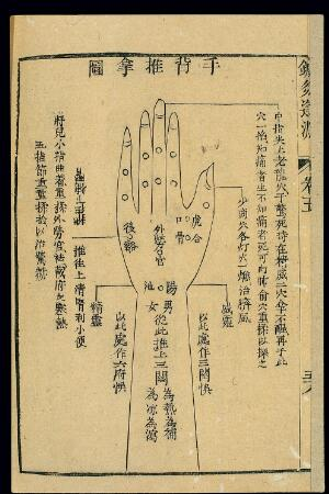 view Paediatric massage (tuina) chart, back of hand and arm
