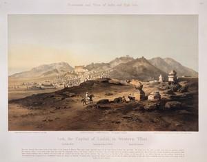 view Leh, the capital of Ladak, in western Tibet