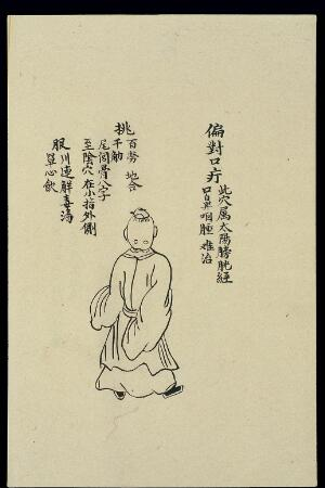 view C19 Chinese ink drawing: Boil diagonally opposite the mouth