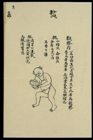 view C19 Chinese ink drawing: Boils - boil stuck to the cheekbone