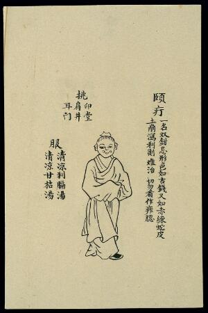 view C19 Chinese ink drawing: Boils - boil on the lower cheek