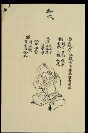 view C19 Chinese ink drawing: Boils - facial boils and tumours