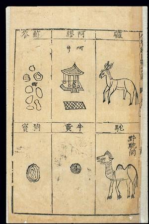 view Bencao Gangmu -- C.16 Chinese materia medica, Bezoars, etc.