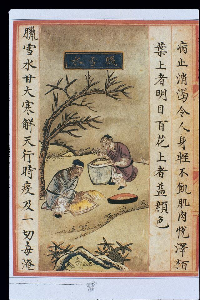 Chinese Materia Dietetica, Ming: Final-month month snow water