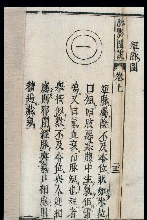 view Chinese/Japanese Pulse Image chart: Short Pulse (duanmai)