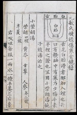 view Chinese tongue diagnosis diagram: 'White-coated tongue'
