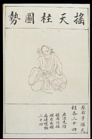view Chinese Qigong practice, from early C20 illustrated MS