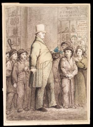 """view James Henry Lambier, """"the American giant"""". Drawing."""
