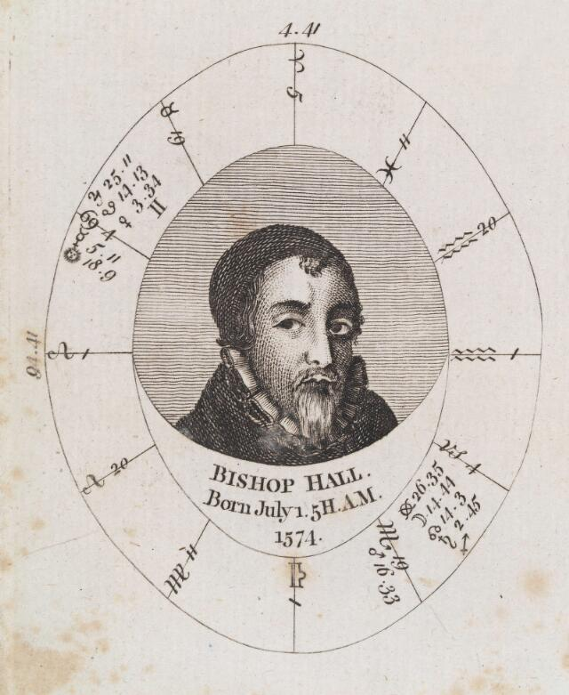 Astrological birth chart for Bishop Hall