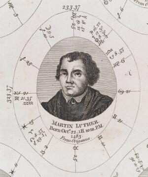 view Astrological birth chart for Martin Luther. Author of the 95 thesis and leader of the Protestant Reformation.