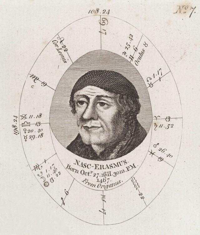 Astrological birth chart for Erasmus