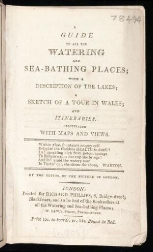 view A guide to all the watering and sea-bathing places.