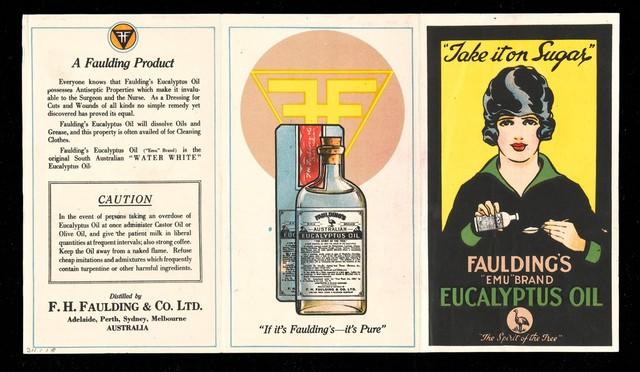 679079599 Fold out leaflet for Faulding's