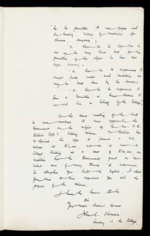 view Letter from John Thomson to James Cantlie concerning funds